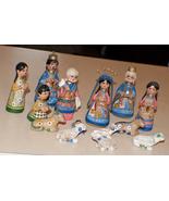 #0565 Mexican Clay Nativity 14 pieces  - $50.00