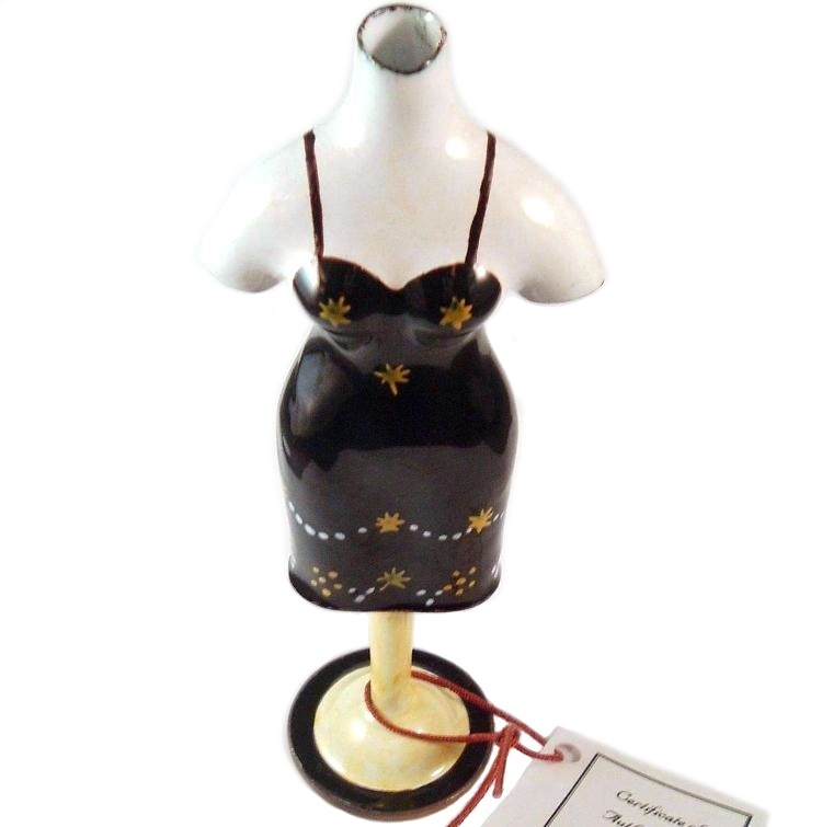 KELVIN CHEN Lady Mannequin Black Yellow Dress Collectible Home Decorative