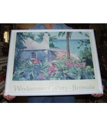 Robert E Kennedy Windjammer Gallery BERMUDA COTTAGE Signed Large Giclee ... - $135.00
