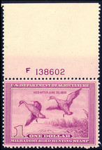 RW5 Mint DUCK Stamp - F-VF OG NH With PL# Cat $400.00 - Stuart Katz - $125.00