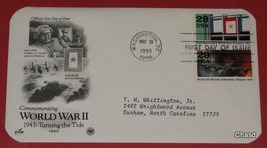 First Day Cover- World War 2 B-24's Hit Ploesti Refineries and Gold Star... - $5.00