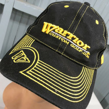Warrior Custom Golf Black Pinstripe Adjustable Baseball Cap Hat - $14.67