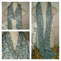 Crocheted long soft scarf #176 - $35.00