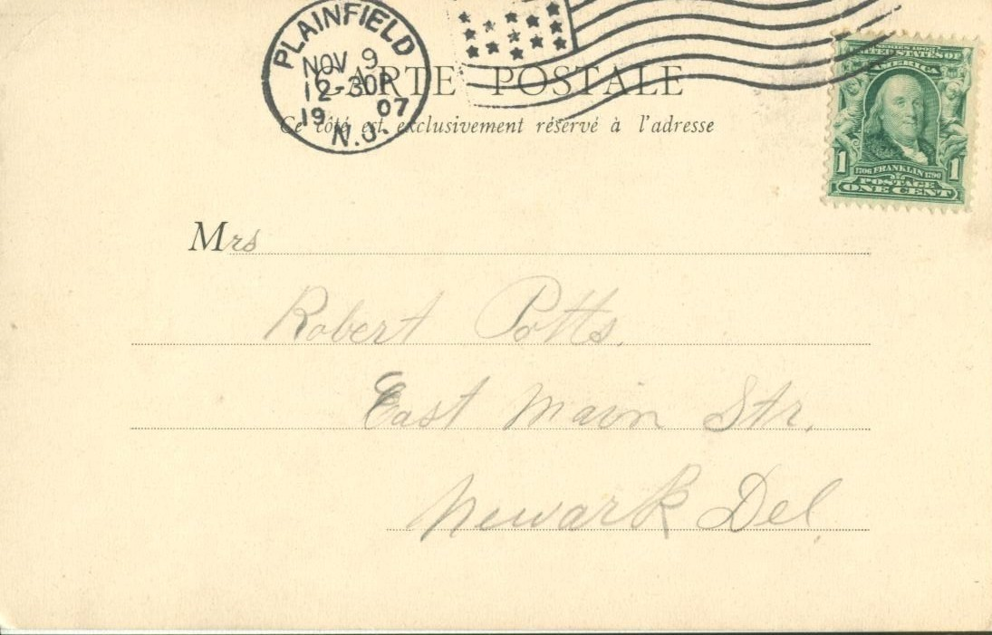 France, La Sorbonne, 1907 used Postcard CPA