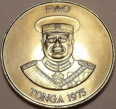 Rare Gem Unc Tonga 1975 F.A.O. PA'Anga~Only 13,000 Minted~100 Palm trees~Free Sh - $28.40