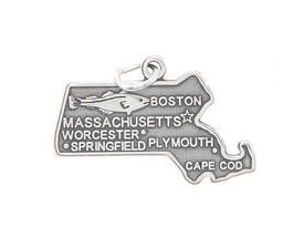 STERLING SILVER MASSACHUSETTS STATE CHARM/PENDANT - $10.46