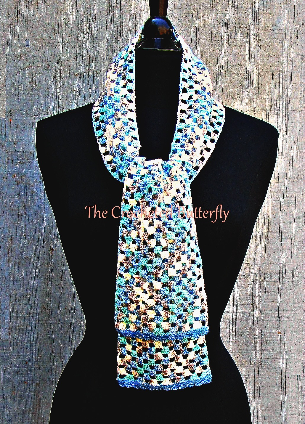 CROCHET PATTERN - Dancing Squares Scarf, crochet, women's accessories, fashion