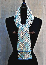 CROCHET PATTERN - Dancing Squares Scarf, crochet, women's accessories, f... - $3.99