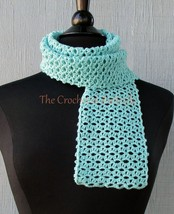 CROCHET PATTERN - Lacy Eyelet Scarf, crochet, women's accessories, fashi... - $3.99