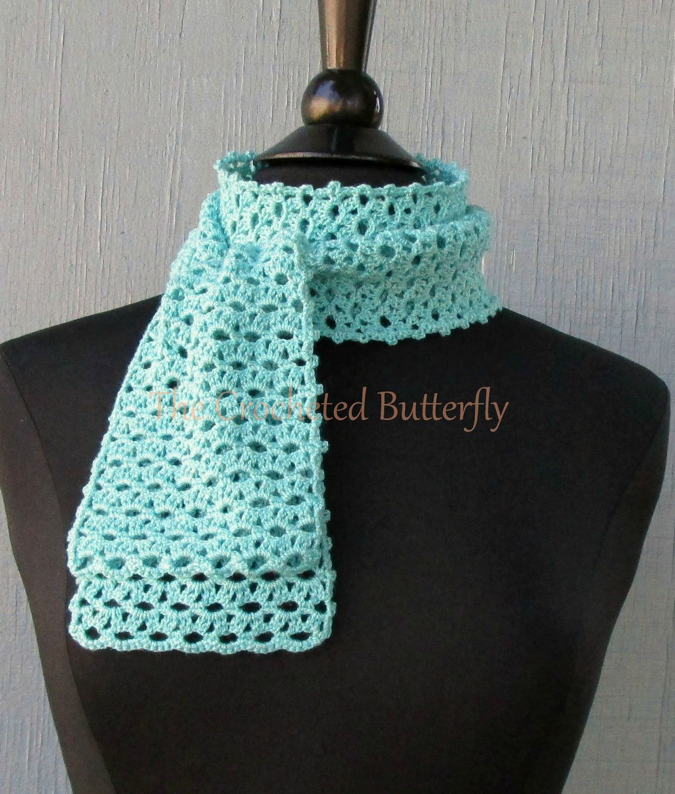 CROCHET PATTERN - Lacy Eyelet Scarf, crochet, women's accessories, fashion,