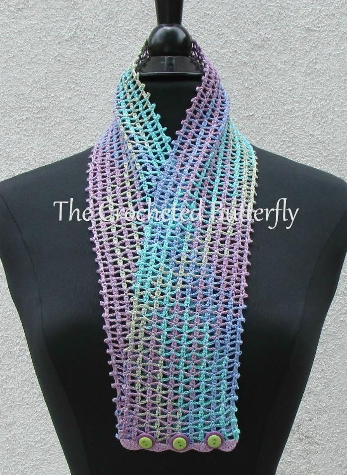 CROCHET PATTERN - Monet  Lace Summer Scarf, crochet, women's accessory, fashion