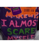 Without Makeup I Almost Scare Myself T-shirt SZ XL NEW Hallmark Purple  - $10.00