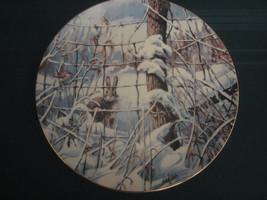 Country Christmas 1989 Collector Plate Lowell Davis Rabbit Wren Schmid Rare - $60.00