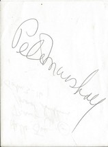 Peter Marshall Signed Album Page Hollywood Squares - $39.59