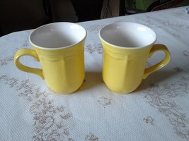 Pair of Mikasa Color Classics C-3300 yellow mugs mint condition (261M) - $14.99
