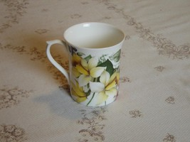 Luxford yellow white pink flower mug mint condition (1D) - $12.11