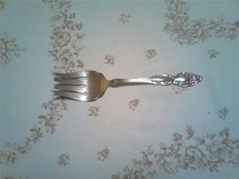 1881 Rogers Baroque Rose (1967) Medium Solid Cold Meat Serving Fork VGU ... - $6.97