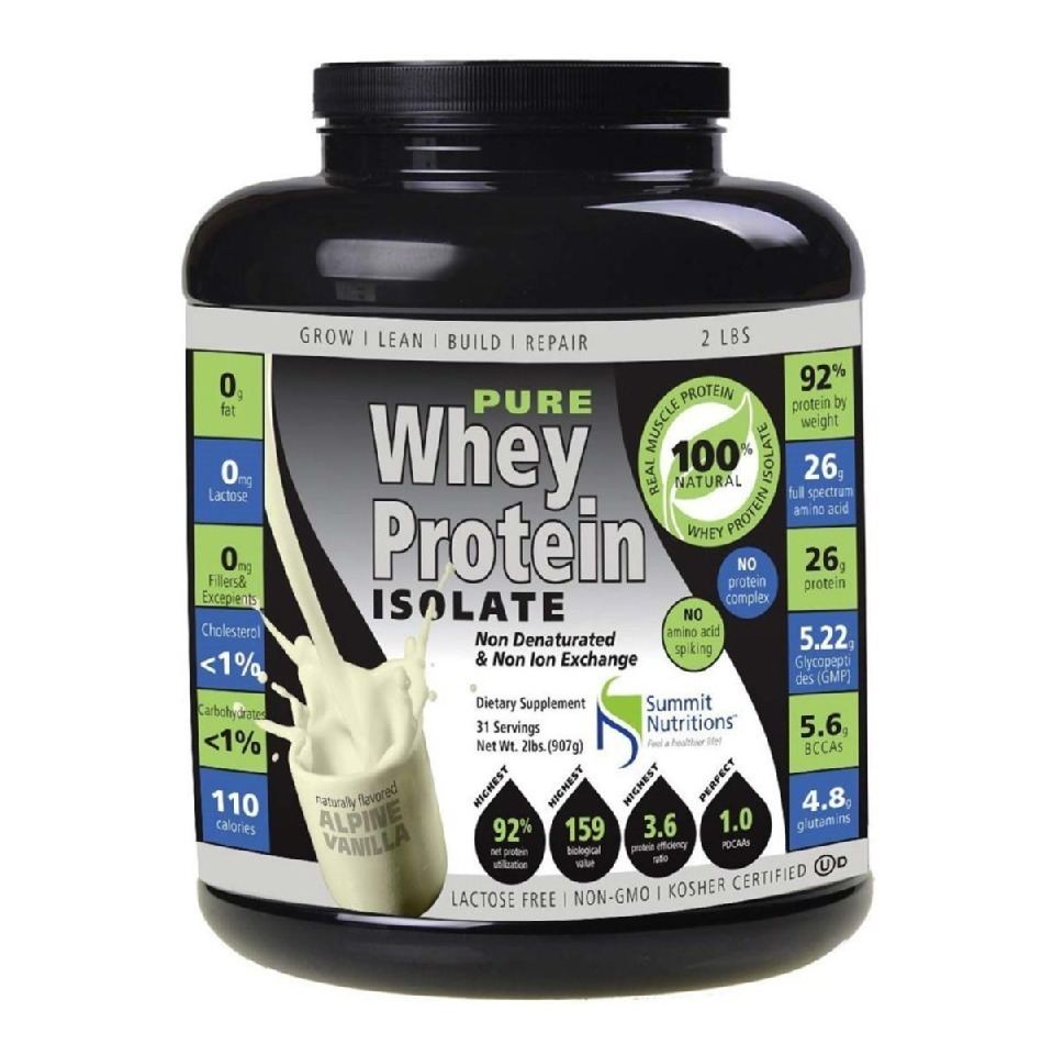 summit nutritions 100 pure whey protein isolate 2 lb vanilla other sports supplements. Black Bedroom Furniture Sets. Home Design Ideas