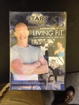 NEW! Start Fitness Operation Living Fit Boot Camp Fitness Tool Kit 3 DVD... - $8.59