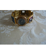 Vintage Chico's Square Goldtone Design Stretch Ladies Wrist Watch  - $16.82