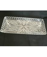Beautiful Vintage ABP Crystal Deep Cut Glass Rectangular Sawtooth Servin... - $123.74