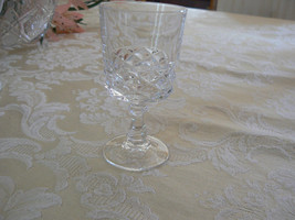 Beautiful Set of 6 Vintage Clear Crystal Stemmed Crystal Cordial Glasses - $24.74