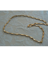 Vintage Unmarked Brushed Goldtone Chain Link Necklace - $11.87