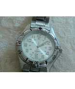 Awesome Vintage Mens Advance Silvertone Quartz Adjustable Watch Band - $9.27