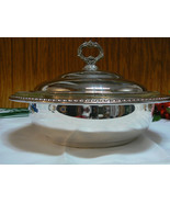 Vintage Sheridan Silver Co Silverplate Covered Serving Bowl/Dish Anchor ... - $39.59