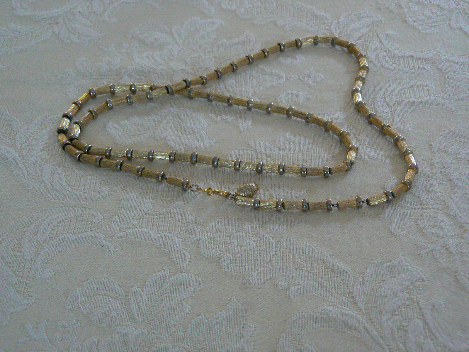 Lovely Vintage Napier Brushed Gold Tone Link Chain Necklace