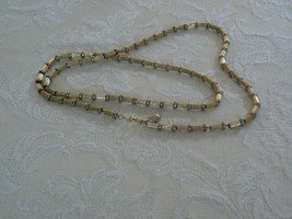 Lovely Vintage Napier Brushed Gold Tone Link Chain Necklace - $13.99