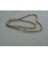 Lovely Vintage Napier Brushed Gold Tone Link Chain Necklace - $13.99