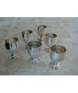 Vintage Marked Silver Plate Small Set of Six Cordial Cups - $23.07
