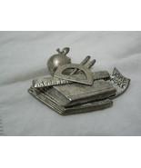 Vintage Unmarked Silvertone Pewter? Teachers Brooch - $6.92
