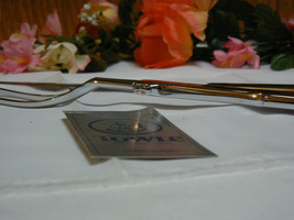 "Vintage Towle Silverplate Monogrammed with a "" K "" Carving Set Knife & Fork - $37.86"