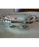 Vintage Poole Old English Silver Plate Small Footed Ornate Edge Round Ca... - $39.59