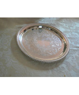 Vintage Wm Rogers & Son Silver Plate Scrolled Round Serving Platter  - $59.39