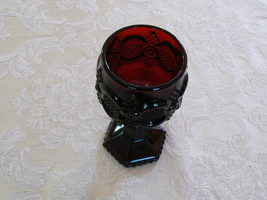 Lovely Vintage Avon Cape Cod 1876 Collection Ruby Red Wine Goblets - $5.93