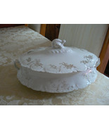 Antique/Vintage Homer Laughlin Hudson Pattern Covered Vegetable Dish - $19.79