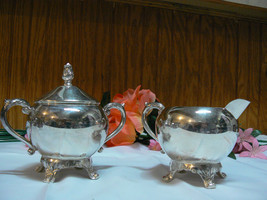 Antique/Vintage F.B. Rogers Silver Co. Silverplate Creamer & Covered Sugar Bowl image 2