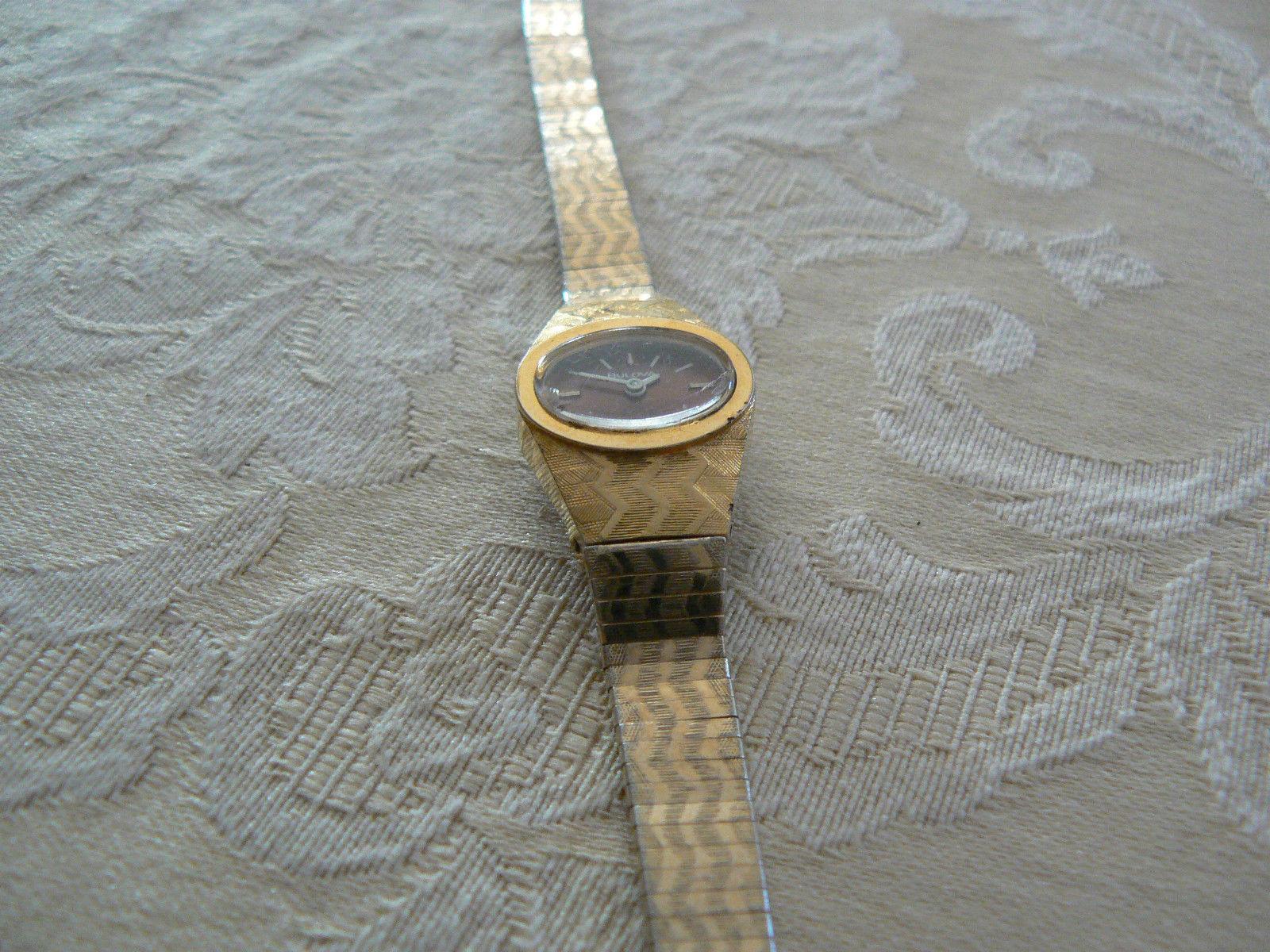 Bulova Goldtone Japan Movement Ladies Wrist Watch
