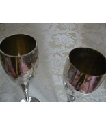 Vintage Silver Silverplated Wine Champagne Goblets - $9.89