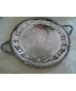 Beautiful Vintage R.S Sheets Silverplate Handled Round Scrolled Serving ... - $39.59