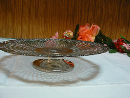 Vintage Apollo Steel Co Grape Vine Decor Quadruple Plate Footed Tray # 1546 - $44.54