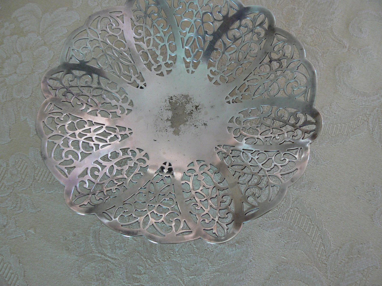 Vintage International Silver Co Silver Plate EPNS Lovelace Pattern #1425 Dish
