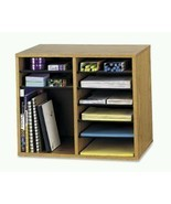 Products Wood Adjustable Literature Organizer 12 Compartment Oak Adjusta... - $151.99