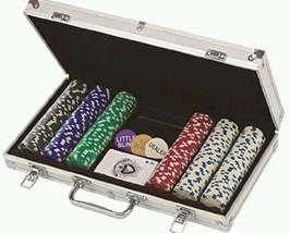 300 Ct 11.5 Gram Poker Chips In Aluminum Case Game Casino Cards Pro Fun ... - $59.99