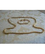 Gorgeous Elegant Vintage Givenchy Goldtone 1980 Runway Link Necklace & B... - $189.33