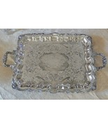 Sheridan Silver Co. Silverplate OLD Ornate Floral Scroll Pattern Waiters... - $193.54