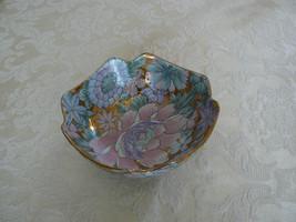 Antique/Vtg Toyo Oriental Peony Blossom Pink Aq... - $12.61